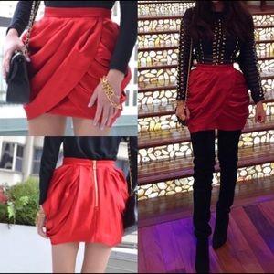 Balmain x H&M Tulip Silk Skirt